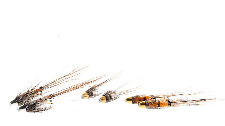 Midgar Bristle Shrimps, March Brown, is maybe one of the most productive salmon flies there is! Together with it`s brother and sister March Brown Gold and March Brown Silver, they cover almost any fishing situation imaginable, and therefore this family of flies should be in your box, and put on your tippet, frequently! Comes in size 25, 33, 43, 53, 65 and 80 mm. Try it. Please!
